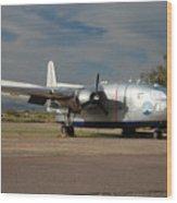 Fairchild Flying Boxcar N15501 Buckeye Arizona Wood Print