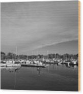 Fairfield Marina Wood Print