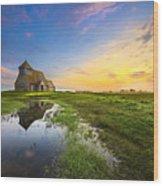 Fairfield Sunrise Wood Print