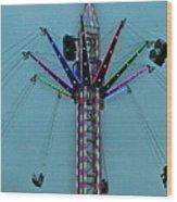 Fairground Star Wood Print