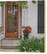 Fairhope Doorway Wood Print by Michael Thomas