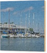 Fairhope Yacht Club Impression Wood Print