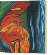 Fairies Of Fire And Ice Wood Print