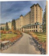 Fairmont Chateau Lake Louise Wood Print