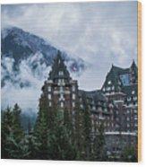 Fairmont Springs Hotel In Banff, Canada Wood Print