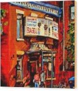 Fairmount Bagel Montreal Wood Print