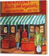 Fairmount Fruit And Vegetables Wood Print