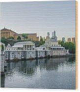 Fairmount Waterworks And Philadelphia Art Museum In The Morning Wood Print