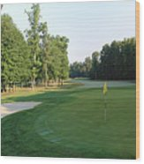 Fairway Hills - 4th - A Straight-in Par 4 Wood Print