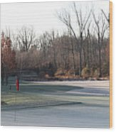 Fairway Hills - 7th - Beware Of The Tree And The Pond Panorama Wood Print