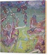 Fairy Ballet Wood Print