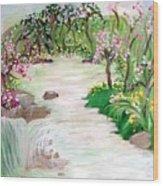Fairy Blossom Falls Wood Print