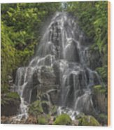Fairy Falls On A Sunny Day Wood Print
