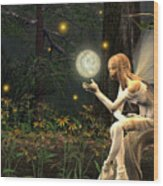 Fairy Light Wood Print