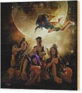 Fairy Night Chat Wood Print