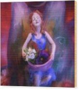 Fairy Of The Garden Wood Print