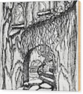 Fairy On Stairs Tree Fairy Home Wood Print