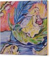 Fairy On The River. Wood Print