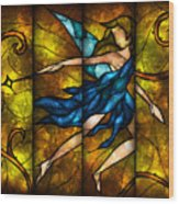 Fairy Tetraptych Wood Print by Mandie Manzano