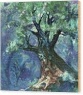 Fairy Tree Wood Print