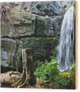 Fairy Waterfall Wood Print