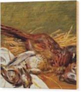 Faisans Canapetiere Et Grives 1902 Wood Print