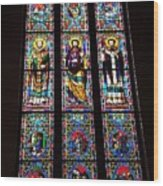 Faith In Stained Glass  Wood Print
