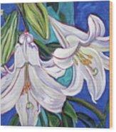 Faith Lily One Wood Print