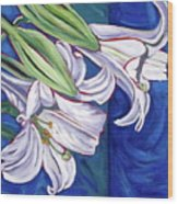 Faith Lily Two Wood Print