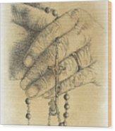 Faith Never Grows Old Wood Print
