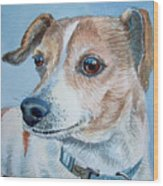 Beloved Dog Commission By Irina Sztukowski  Wood Print