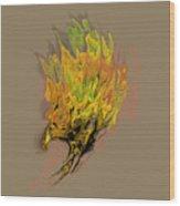 Falcon Fire Wood Print