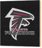 Falcons Atlanta T-shirt Wood Print