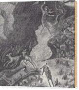 Falcon's Near Miss Wood Print