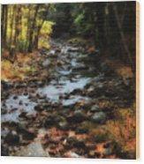 Fall Along Tenant Creek Wood Print