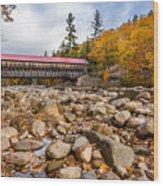 Fall At Albany Covered Bridge Wood Print