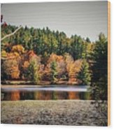 Fall At Bass Lake Wood Print