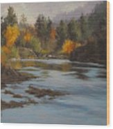 Fall At Colliding Rivers Wood Print
