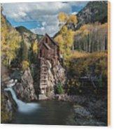 Fall at Crystal Mill Wood Print