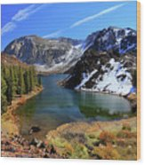 Fall At Ellery Lake Wood Print