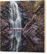 Fall At Fall River Falls Wood Print