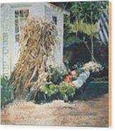 Fall At Ivy Corners Wood Print by Elizabeth Carr