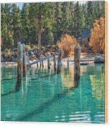 Fall At Skunk Harbor Lake Tahoe Wood Print