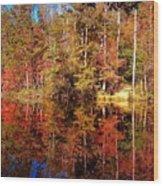 Fall At Table Rock Wood Print