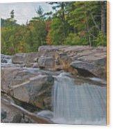 Fall At The Falls Wood Print