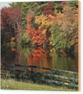 Fall At The Farm Wood Print