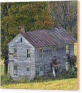 Fall At The Forgotten Farmhouse Wood Print