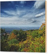 Fall Blue Ridge Parkway Wood Print