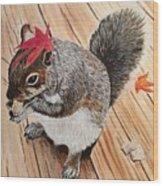 Fall Bonnet Wood Print