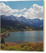 Fall Color At Trout Lake Wood Print